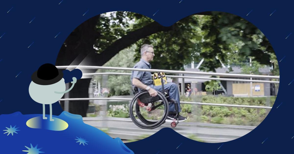 安全載物自己來!LapStacker™ 輪椅專用伸縮固定帶